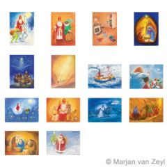 Assortment Seasons and Seasonal Festivals II - 14 Postcards - by Marjan van Zeyl