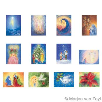 Assortment Seasons and Seasonal Festivals III - 12 Postcards - by Marjan van Zeyl