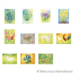 Assortment Spring and Summer I - 11 Postcards - by Marjan van Zeyl