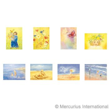 Assortment Spring and Summer II - 8 Postcards - by Marjan van Zeyl