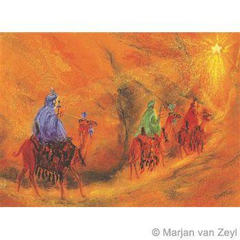 Wise Men followed the star - by Marjan van Zeyl 1 piece postcard