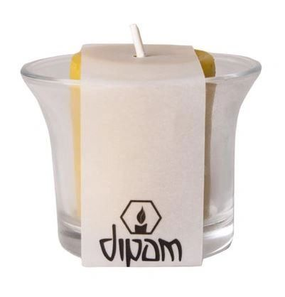 Dipam Party Lights in a Glass SF 1 Piece - Beeswax