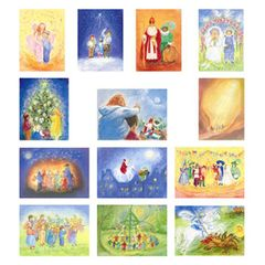 Assortment High Days and Holidays - 13 Postcards - by Marjan van Zeyl