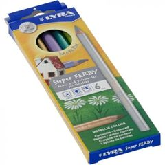 Lyra Super Ferby Lacquered Metallic Assortment 6 Pencils