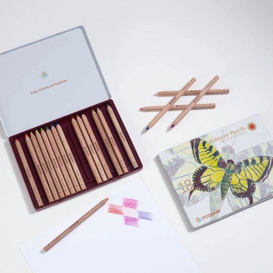 Stockmar Colored Pencils Hexagonal Assortment 18+1