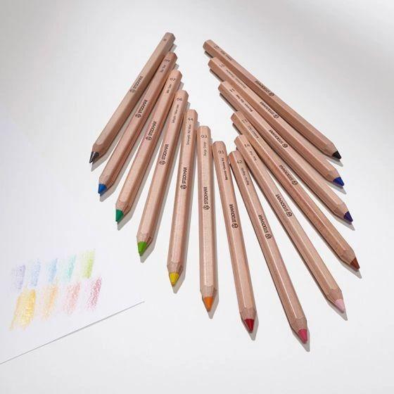 Stockmar Colored Pencils Hexagonal Assortment 12+1