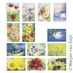 Assortment Flower - 13 Postcards - by Marjan van Zeyl