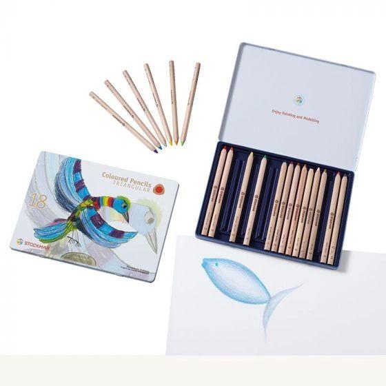Stockmar Colored Pencils Triangular Assortment 18+1