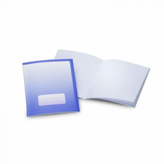 "Exercise Book Small 6.3""x8.27"" Portrait Format Graph 0.2""x0.2"" (5x5cm) Blue"