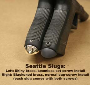 TF Seattle Slug mag guide, Glock 17/22 Gen. 3, shiny brass