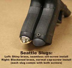 TF Seattle Slug mag guide, Glock 19/23 Gen. 3, shiny brass