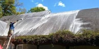 Our roofing company cleans roofs