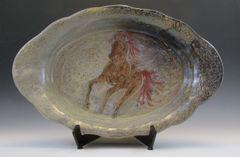 Brown Horse Carved Platter