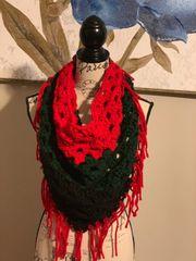 Handmade Crochet Bandanna Neck Scarf
