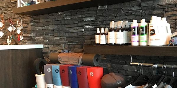 Our shop / boutique - yoga mats, laundry detergent, mat sanitizer spray, room spray, yogitoes