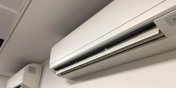 Air conditioner placed on the wall