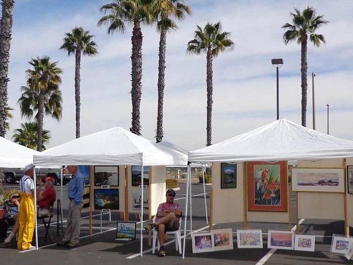 Booths at South Bayfront Art Show
