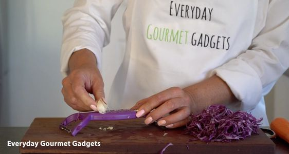 Grating Garlic with the Julienne Peeler