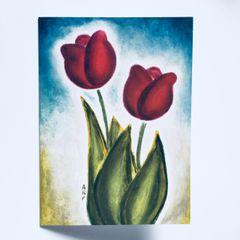 Tulip Duet Greeting Card