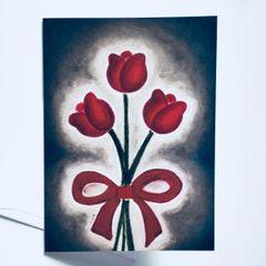 Trinity Tulip Bouquet Card