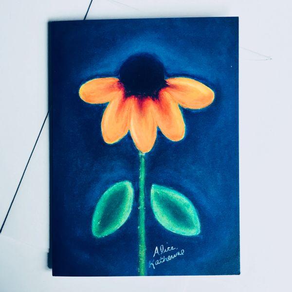 Midnight Blue Daisy Card