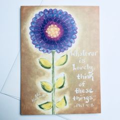 Whatever is Lovely Card