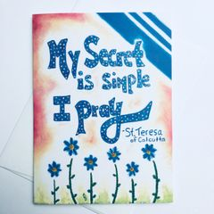 Pray -Saint Teresa of Calcutta Card