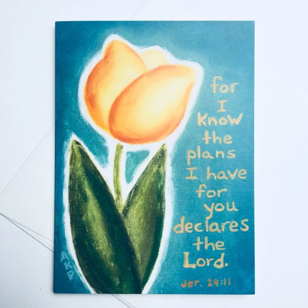 For I Know The Plans -Jeremiah 29:11 Card