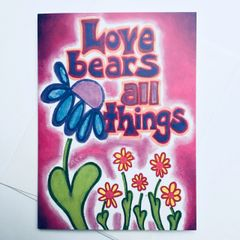 Love Bears All Things Card