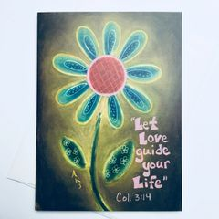 Let Love Guide Your Life -Col. 3:14 Card