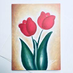 Sunset Tulips Card