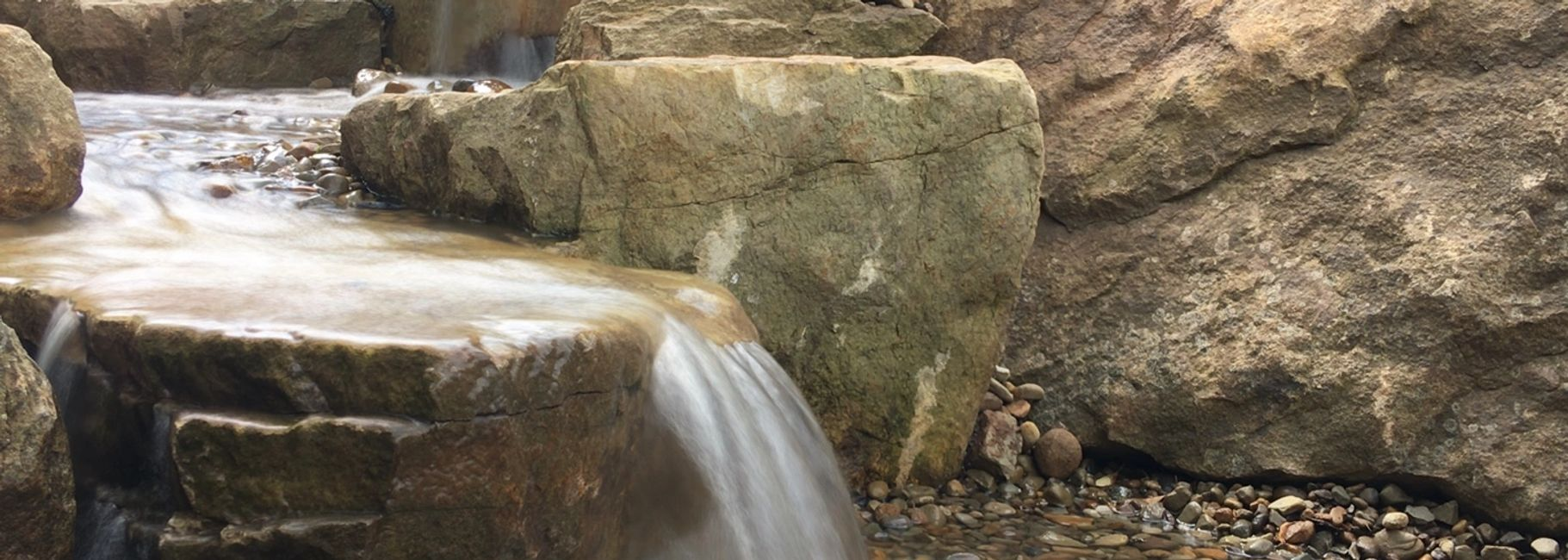 pondless waterfall professional installation Pittsburgh pa aquatic edge