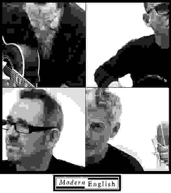 Modern English original band members: Robbie Grey, Mick Conroy, Steven Stephen Walker, Gary McDowell