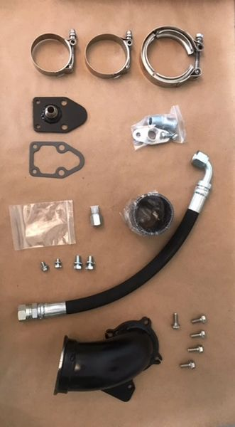 6.5 Turbo Diesel HX35 Holset and HX40II Downpipe Kit, Improved!!