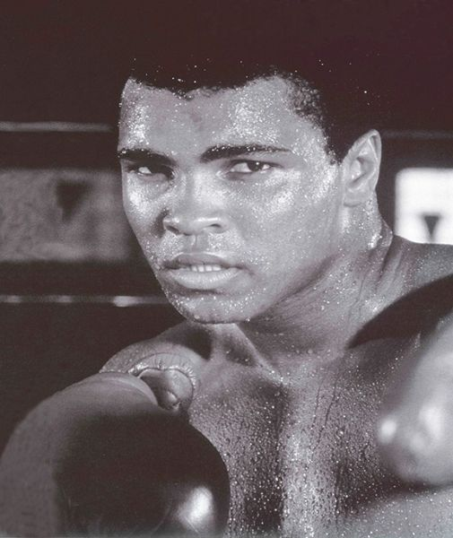 Muhammad Ali Sweating Canvas Art