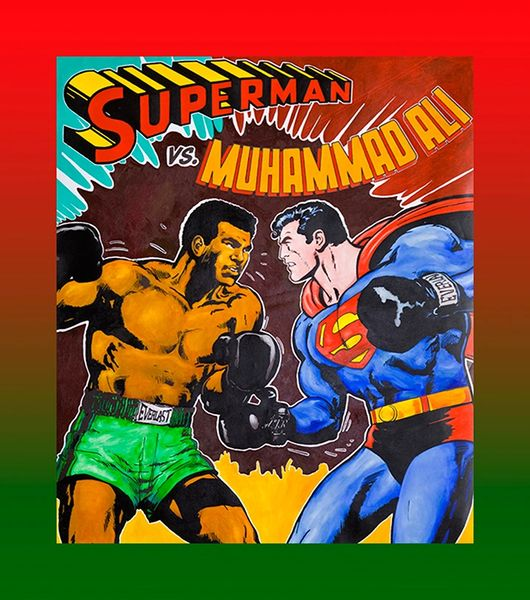 Muhammad Ali VS Superman Canvas Art