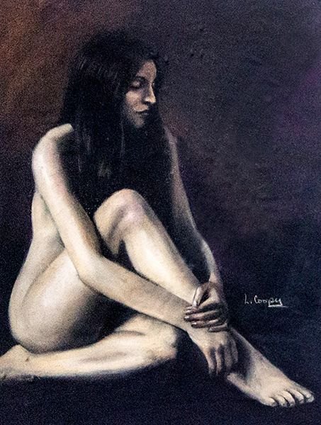 Pensive In Nude Original