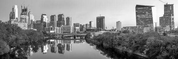 Philadelphia New Skylines Black & White