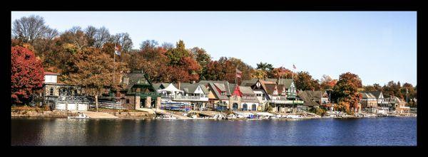 Boat House Row (Autumn)