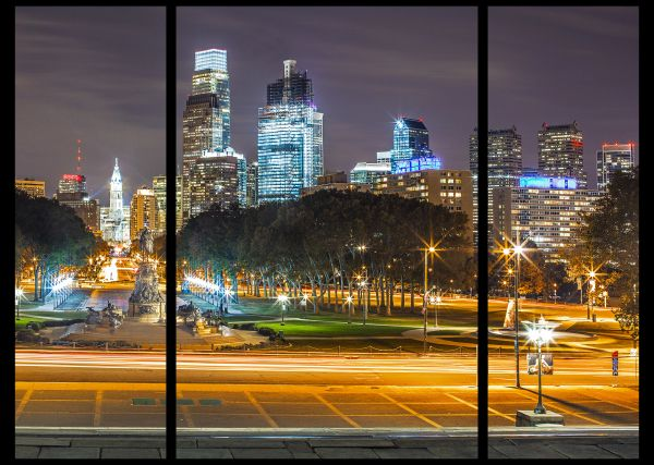 Philadelphia Skylines (Triptych)