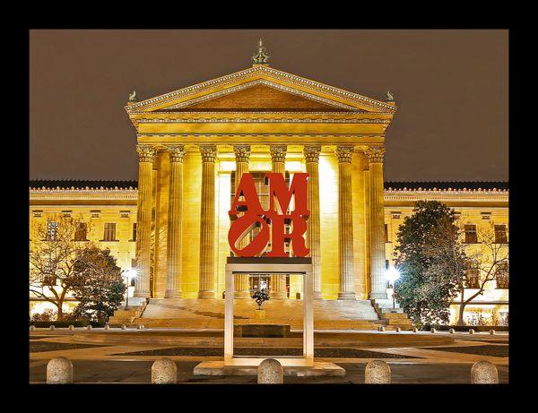 Amor at the Philadelphia Museum of fine Art (12x14)