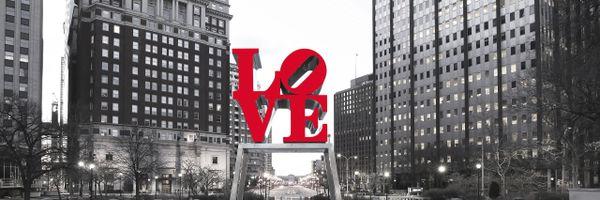 Philadelphia Love Park Panoramic in the Day