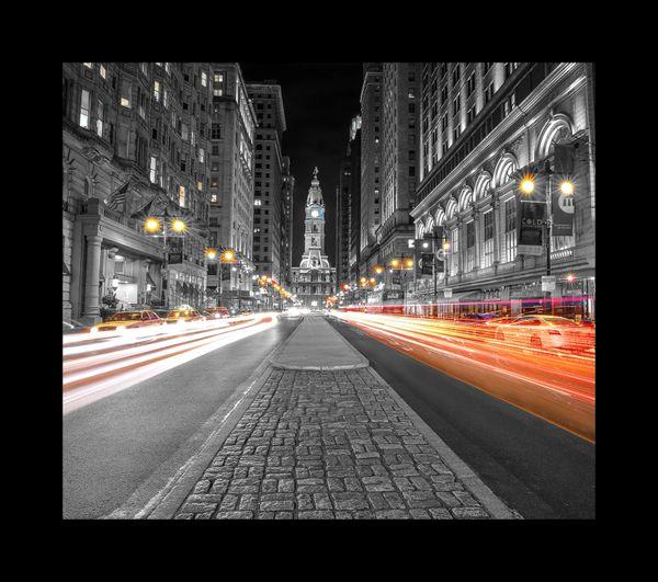 Philadelphia City Hall Black and White