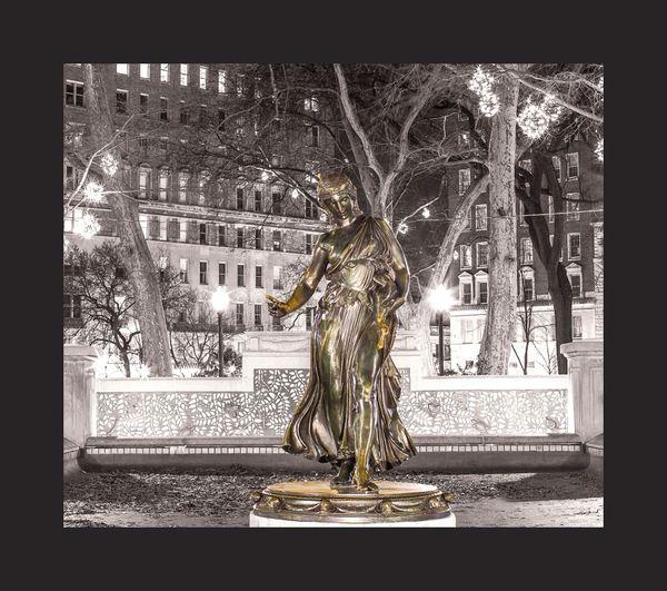 Philadelphia Rittenhouse square Statue