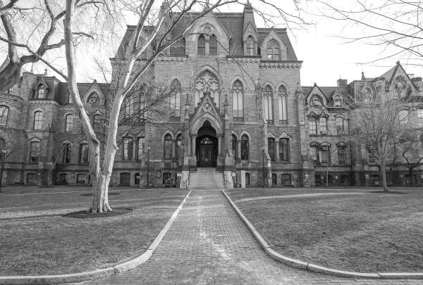 Collage Hall At University of PA b/w