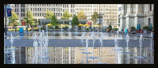 Philadelphia Dilworth Park with love Statue
