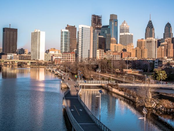 Philadelphia Sky Line From South Street