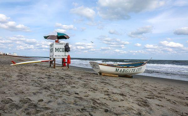 Photograph of Margate City,Nj Beach,Canvas Art,Photo,Wall Art,Ocean Art. (30x40)