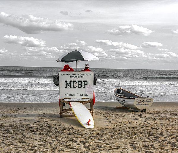 Life Guard at Margate,Nj,Canvas Art,Photo,Wall Art,Ocean Art.
