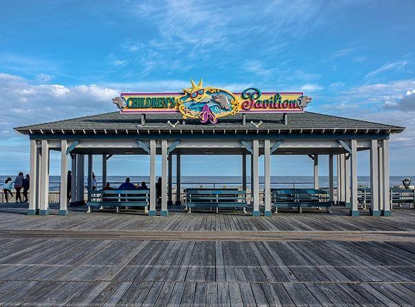 Children's Pavilion at Ocean City,NJ,Canvas Art,Beach Art.